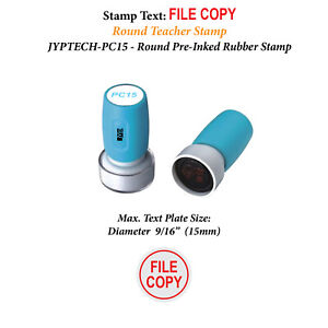 Red Ink File Copy JYP PA1040 Pre-Inked Rubber Stamps