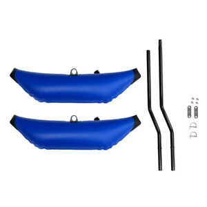 Blue PVC Inflatable Outrigger Stabilizer for Kayak Canoe Fishing Standing