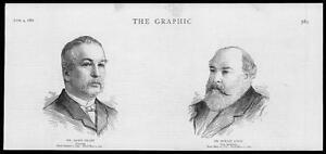 1887-Antique-Print-PORTRAITS-James-Grant-Novelist-Horace-Jones-Architect-29