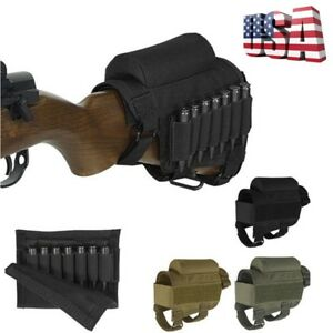 Details about Tactical Rifle Butt Stock Cheek Rest Pad Left/Right Hand Ammo  Carrier Pouch Bag