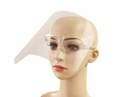 2-20 Pack New Adjustable Full Face Shield Visor Protection Mask Safety Clear PPE