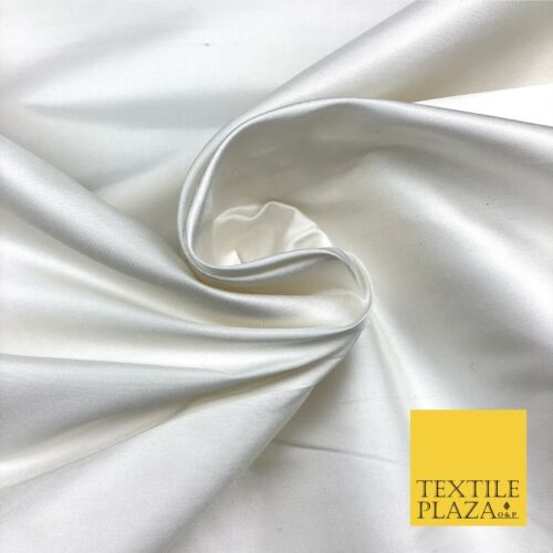 White Luxury fine Weave 100/% Pure Silk Fabric-Dress Wedding Bridal nf725