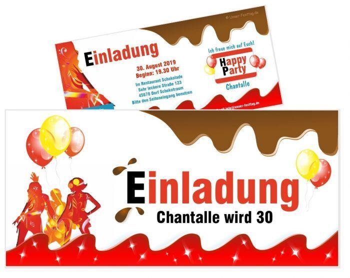Einladungskarte Geburtstag lustig Schoko Frau - 20 30 40 JEDES ALTER Wunschtext | Schönes Aussehen  | Fierce Kaufen