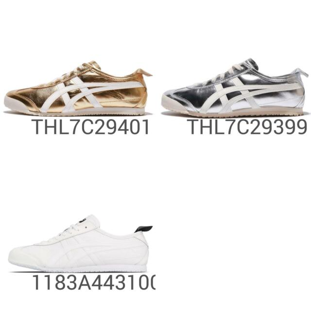 finest selection ec380 2cb10 Asics Onitsuka Tiger Mexico 66 Silver Gold Men Women Shoes Sneakers Pick 1