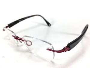 8fc580627f Image is loading Riserva -8005-Prescription-Eyeglasses-Rimless-Burgundy-49-19-