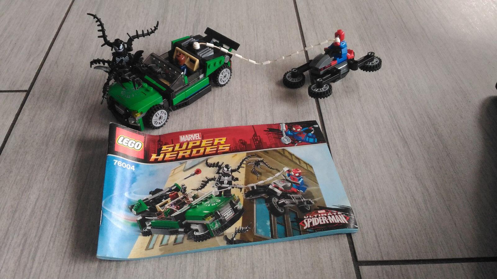 LEGO Super Heroes Marvel 76004 La Poursuite en Moto-Araignée - Spider-Man