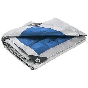 Blue-Silver-All-Purpose-Water-Resistant-Tarp-Tarps-Heavy-Duty-Reinforced-Corner