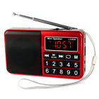 Red Pocket Digital FM/AM/SW Radio MP3 Music Player Multimedia Mini Speaker+Track