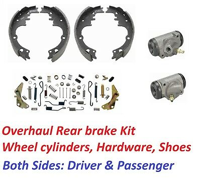 64-67 Chevelle Rear Brake Drum Overhaul Kit Hardware Shoes Wheel Cylinders KIT