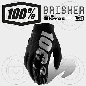 GUANTI-100-BRISKER-MX-BLACK-GRAY-ADULTO-MOTOCROSS-ENDURO-OFF-ROAD-ATV-MTB