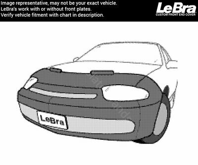 Fits CHEVROLET,CAVALIER,,w//lower spoiler,2003 thru 2005 Lebra 2 piece Front End Cover Black Car Mask Bra