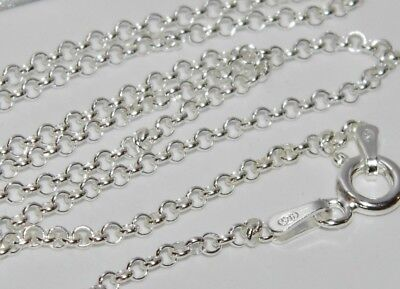 20 inch PRINCE OF WALES CHAIN 2.7g Strong /& Durable SOLID STERLING SILVER 925