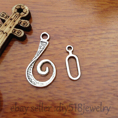 10pcs OT clasp Hook Charm Tibet silver diy jewelry Fit necklace Bracelet 7564