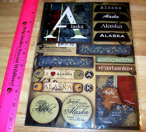 Various-Cool-Patchwork-Alaska-Stickers-16-different-great-for-scrapbook