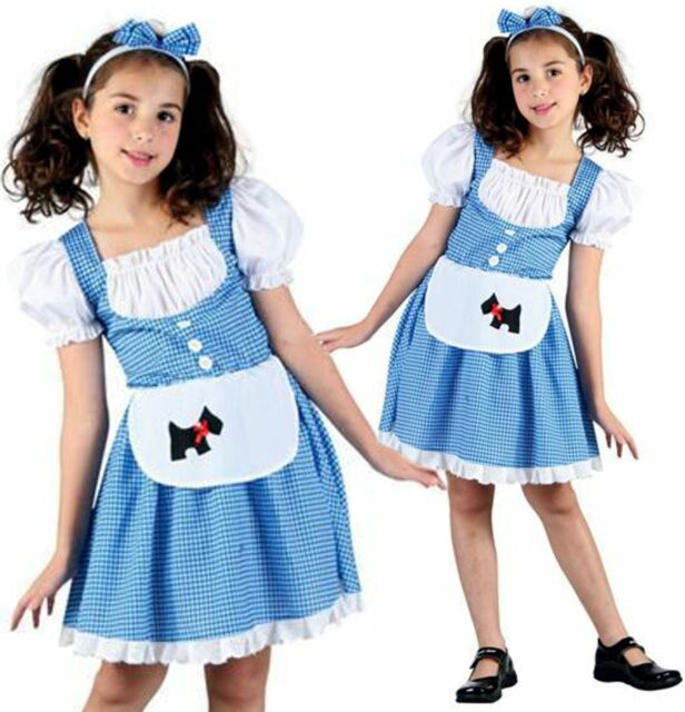 Girls Kids Dorothy Wizard of Oz Fancy Dress Costume World Book Day Outfit  4-14