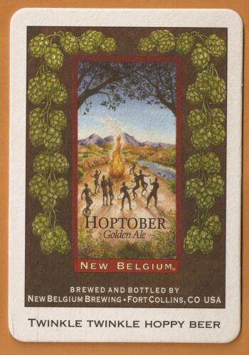 Postcards 16 New Belgium Hoptober Golden Ale  Beer Coasters