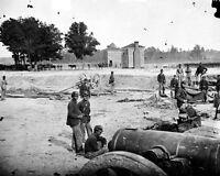 8x10 Civil War Photo: 32 Pound Field Howizter Cannon Guns At Seven Pines
