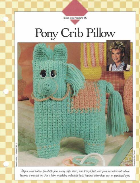 For Baby Pony Crib Pillow Crochet Single Pattern Vanna White Ebay