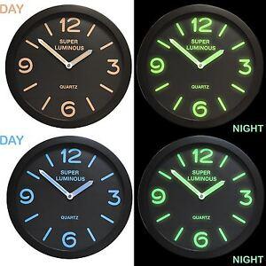 12 Quot Glow In The Dark Wall Clock Hanging Bedroom Home