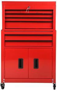 Halfords-DIY-Storage-Store-Garage-Workshop-Chest-Cabinet-8-Drawer-Tool-Centre