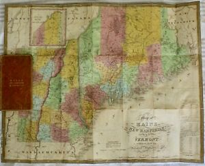 Antique Map Of Maine New Hampshire And Vermont By S A Mitchell 1831 Ebay