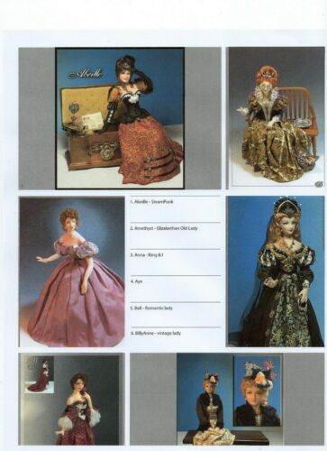 1:12 Visual Mini Doll Dressing Made Easy By Dana SABELLA Tutorial~Pattern  PDF