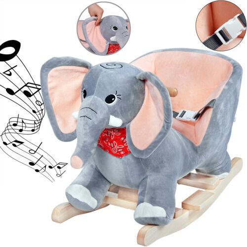 Elefante a dondolocintura di sicurezzabambinobambinaequilibrio