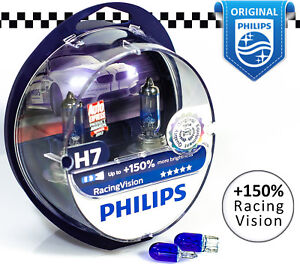 philips h7 racing vision 150 car halogen headlight bulbs