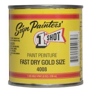 One Shot Fast Dry Gold Size Half Pint