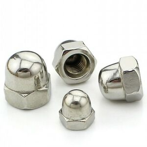 M4-M5-M6-M8-M10-M12-Acorn-Hex-Cap-Nuts-Dome-Nuts-316-A4-Stainless-Steel