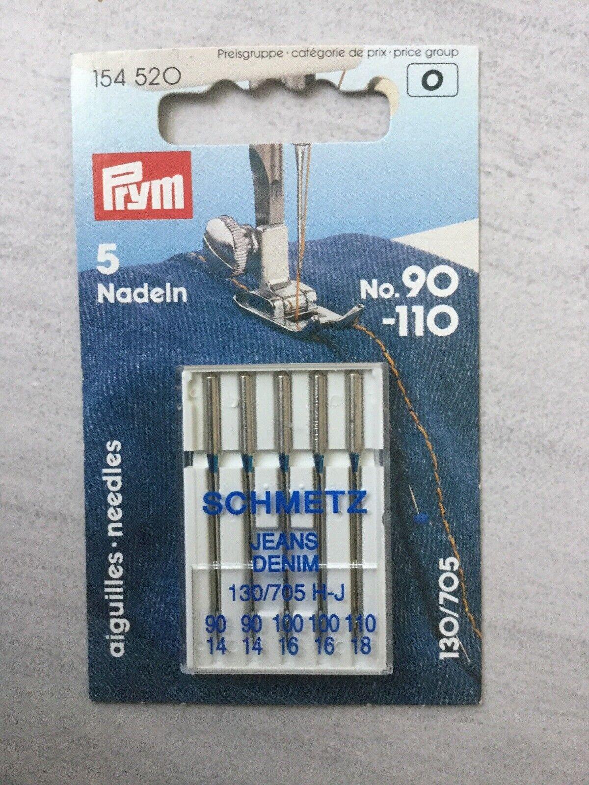 Schmetz Nähmaschinen Nadeln Jeans PRYM