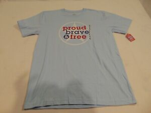Nwt Hallmark America Red White Blue Proud Brave Free Adult L 4th Of July Ebay