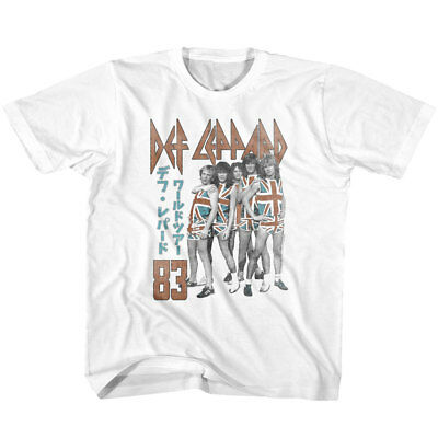 Def Leppard Japanese Writing 83 Youth T Shirt Heavy Metal Music
