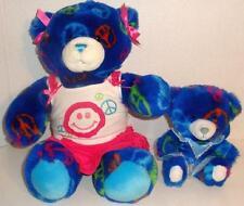"BUILD A BEAR LOT OF 2 BLUE PEACE TEDDY 15"" PLUSH & SMALLFRY BABY FAIRY DOLLS SET"