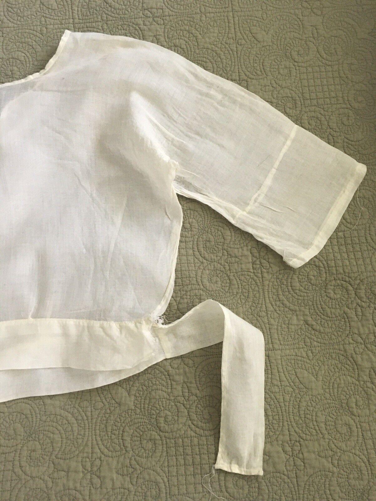 Antique Edwardian Victorian Shirtwaist Blouse - image 8