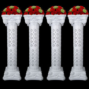 White wedding plastic roman decorative adjustable column pillars w image is loading white wedding plastic roman decorative adjustable column pillars junglespirit Choice Image