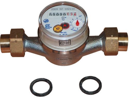 Schütz Kaltwasserzähler Wasserzähler TYP ETK 130mm mit 22mm Lötverschraubung