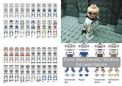 Modestil Clone Wars Trooper Decals / Stickers For Lego In A Star Wars Style Kaufe Eins, Bekomme Eins Gratis
