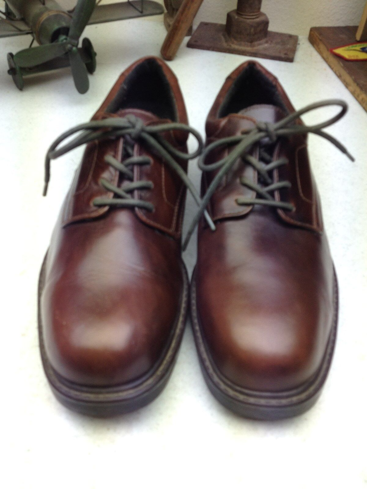 DEER STAGS BOULDER BROWN LEATHER LACE UP OXFORD OXFORD OXFORD POWER DRIVING Scarpe SIZE 11 M c9cf85