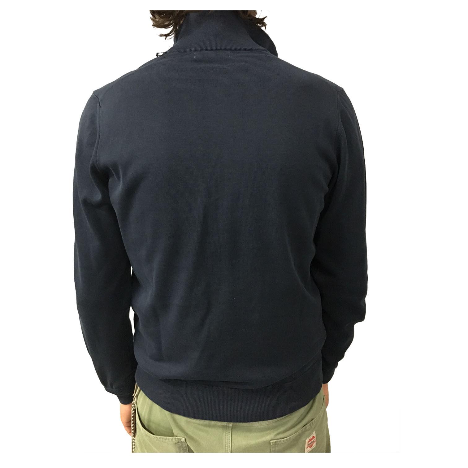 ALPHA STUDIO bomber uomo blu blu blu felpa garzata+maglia mod AU-5021ES 100% cotone slim fdfc6e