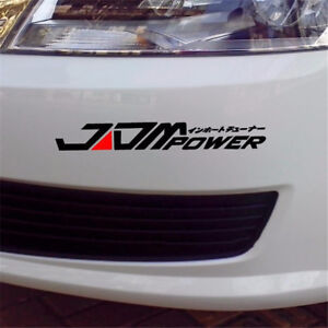Universal-JDM-Power-Car-Auto-Stickers-Racing-Window-Bumper-Decal-Vinyl-Black