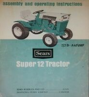 Sears Suburban Ss/12 Garden Tractor & Engine Owners, Parts & Service (4 Manuals)