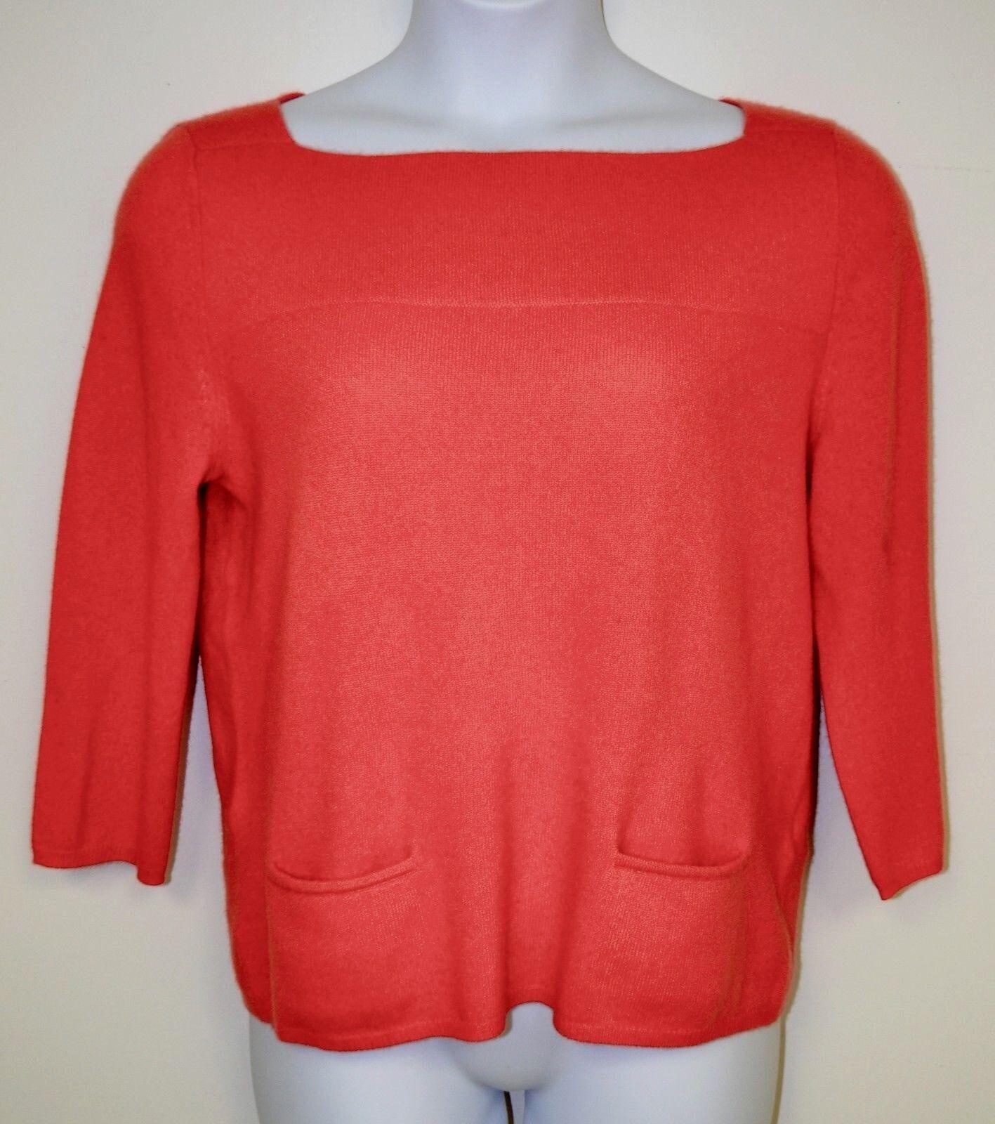 Lord & Taylor Atomare Rot Orange U U U Stiefel Ausschnitt Kaschmir Pullover Ret. 174 | Fairer Preis  ba6504