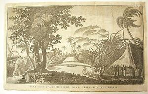 Afia-too-ca-c-1780-Voyages-du-Capitaine-Cook-Cimetiere-Ile-d-039-Amsterdam-Isle