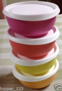 tupperware blossom bowl 550 ml 4 pc multi colors ebay details about tupperware blossom bowl 550 ml 4 pc multi colors