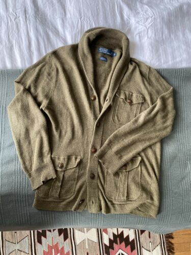 Polo Ralph Lauren Linen Shawl Collar Cardigan