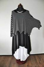 Lagenlook ° la ola ° Big-túnica-suéter ° pequeñas rayas °° 44,46,48,50,52,xl, XXL, XXXL