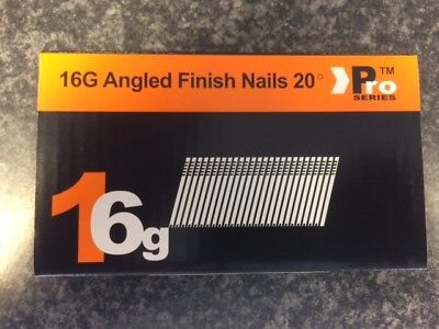 1000 x Mixed Angled 16G 2nd Fix Nails DEWALT DC618KB /& DCN660 500 each size