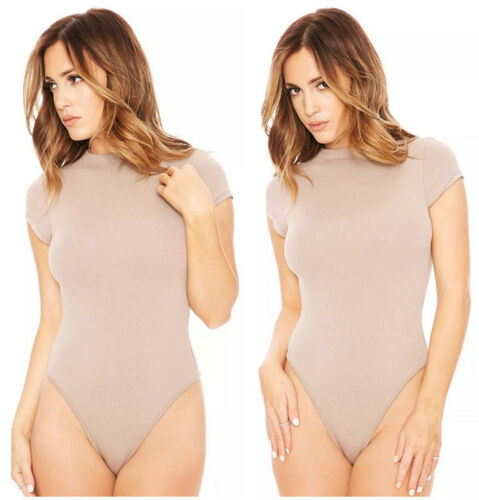 Hot Women Ladies Bodysuit PlaysuitShort Sleeve Body Tops T shirt Jumpsuit