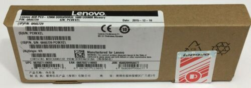 Lenovo 4GB PC3-12800U 1600Mhz DDR3 Desktop RAM NEW FACTORY SEALED